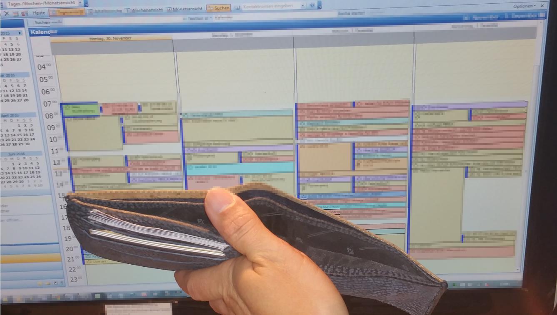 Termine ohne Ende und trotzdem kein Geld? Sie sollten dringend schauen, dass Ihre Schuldner bezahlen! (Bild: Sven Kamm)